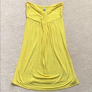 🌻Yellow Strapless Garage Summer Dress